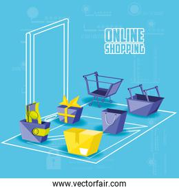 on line shopping with smartphone
