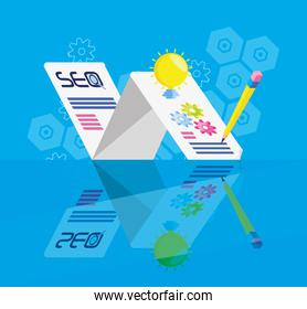 search engine optimization with template