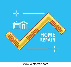 measure tape with home repair icons