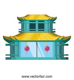 traditional architecture of china isolated icon