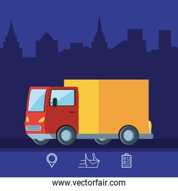 delivery truck logistic service isolated icon