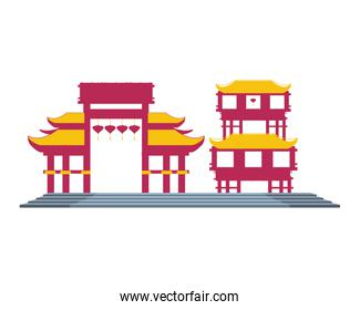 chinese portals isolated icon
