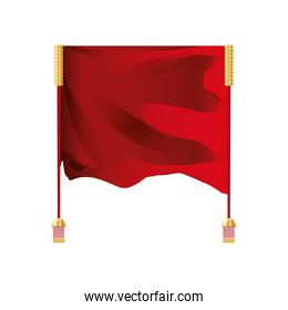 chinese curtain isolated icon