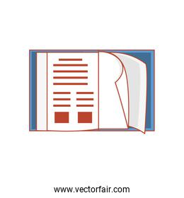 notebook school open isolated icon