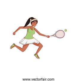 woman tennis playing with racket