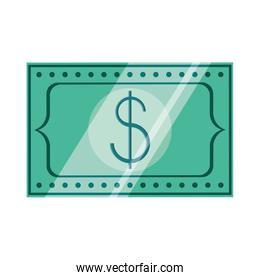 bill dollar money isolated icon