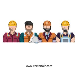 oil industry group of workers character