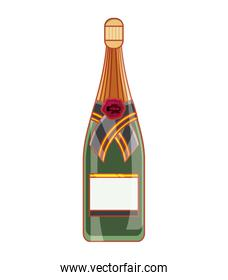 bottle of champagne isolated icon