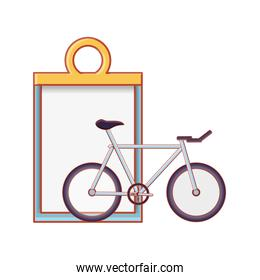 checklist clipboard with bicycle vehicle