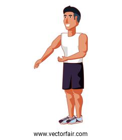 young athletic man avatar character
