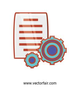 gear machinery with document paper