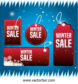 set labels with christmas sale