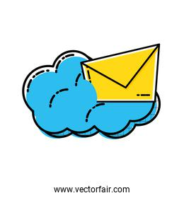 envelope mail with cloud icon