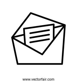 envelope mail with document