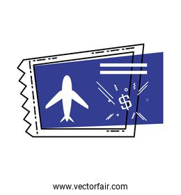 airplane ticket isolated icon