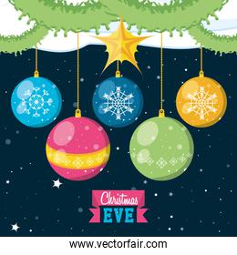 merry christmas balls decorative icon