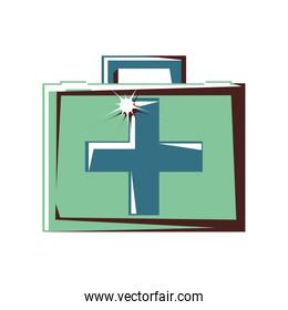 first aid kit isolated icon