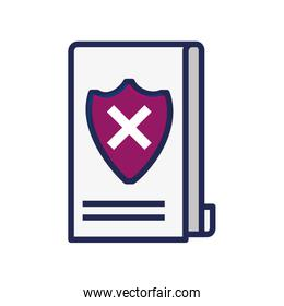 document paper with shield