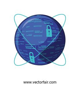 sphere browser with padlock
