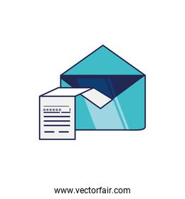 envelope mail and document with password
