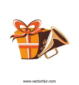 gift box present with trumpet instrument