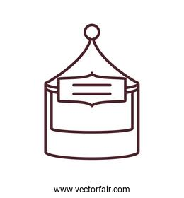 circus tent isolated icon
