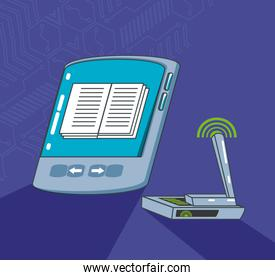 electronic book gadget with router
