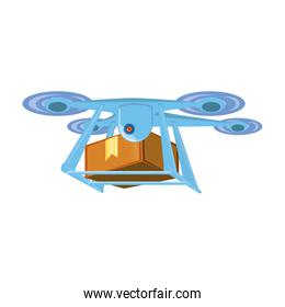 drone technology with box carton