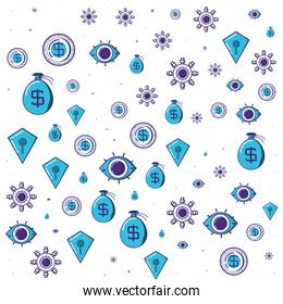 cyber security pattern background