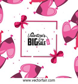 valentines day big sale with balloons helium pattern