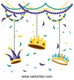 set of crowns for party carnival