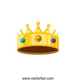crown king luxury isolated icon