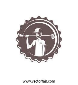seal with golfer avatar character