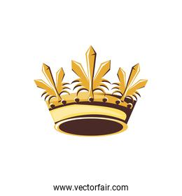 monarchical crown of queen isolated icon