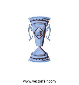 trophy with ball golf isolated icon