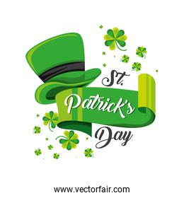 st patrick day with top hat