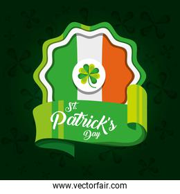 seal of st patrick day with flag