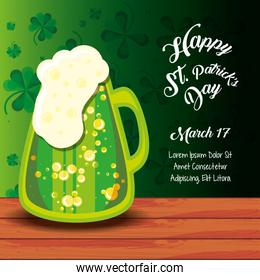 st patrick day with beer jar