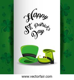 st patrick day with top hat and boot