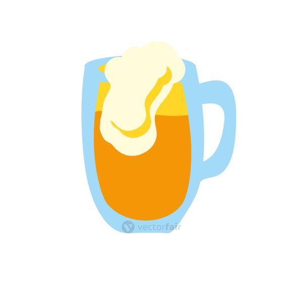 beer in jar isolated icon