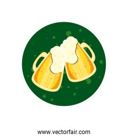 beers in jar toasting isolated icon