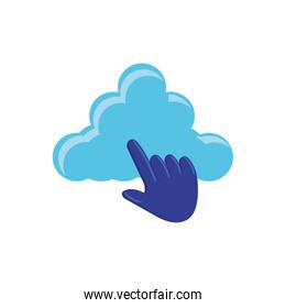cloud computing with pointer hand
