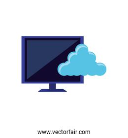 computer monitor with cloud computing