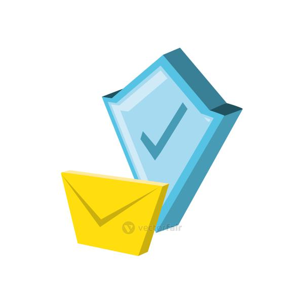 shield secure with envelope mail