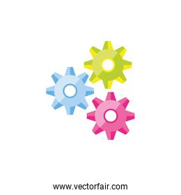 gears machinery isolated icon