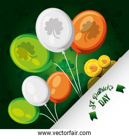 st patrick day with balloons helium