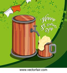 st patrick day with beer barrel