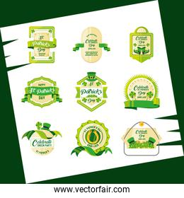 st patrick day with set seals