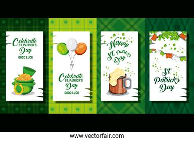st patrick day with set cards