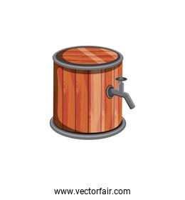 barrel wooden beer isolated icon